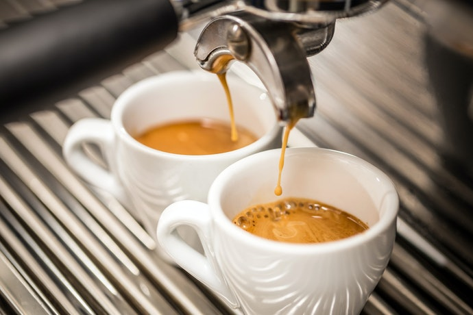 Espresso: Boiling Water Is Forced Under Pressure Through Finely-Ground Coffee Beans