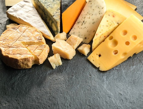 Mozzarella, Cheddar, and Parmesan Are Common Choices