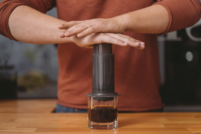 AeroPress:Coffee Is Forced Through a Filter