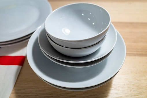 Porcelain Dinnerware is Dishwasher, Microwave, and Oven Safe