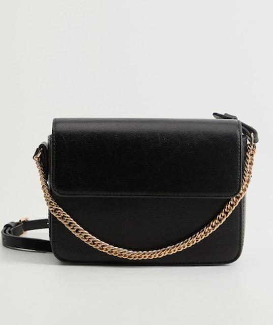 Mango Black Solid Sling Bag 1