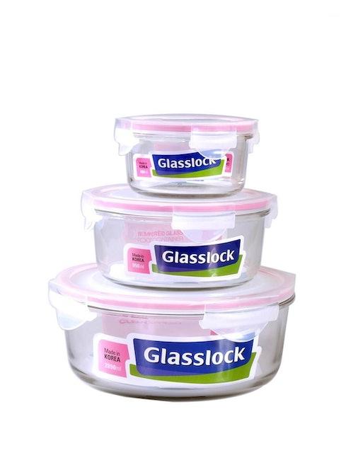 Glass Lock  Round Storage Container Set 1