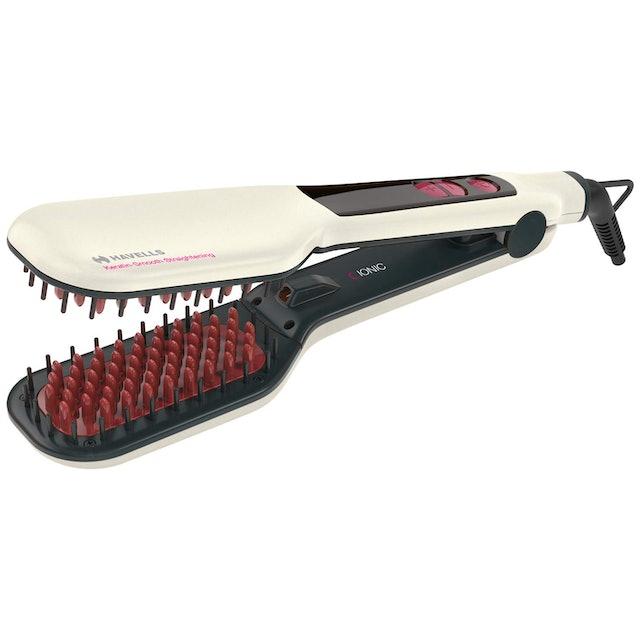 Havells Detangler Ionic and Keratin Smooth Straightening Brush 1