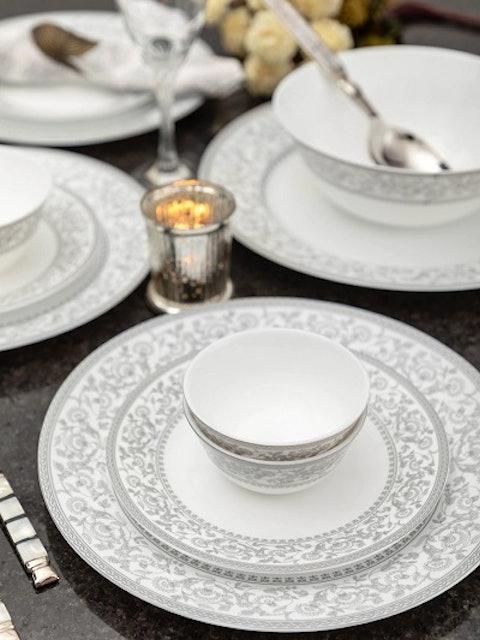 Laopala White & Grey Printed Persian Silver 1
