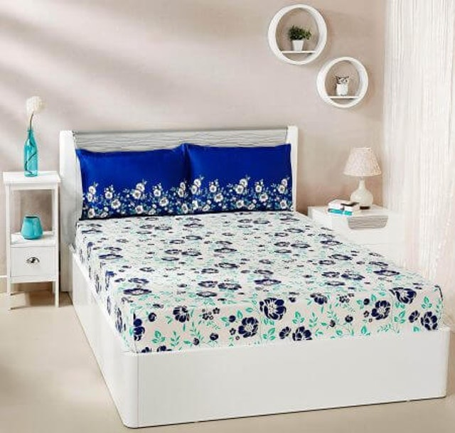 Solimo  Jasmine Zest Double Bed Sheet 1