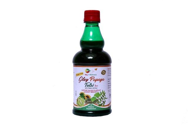 Way 4 Wellness Giloy Papaya Tulsi Juice 1