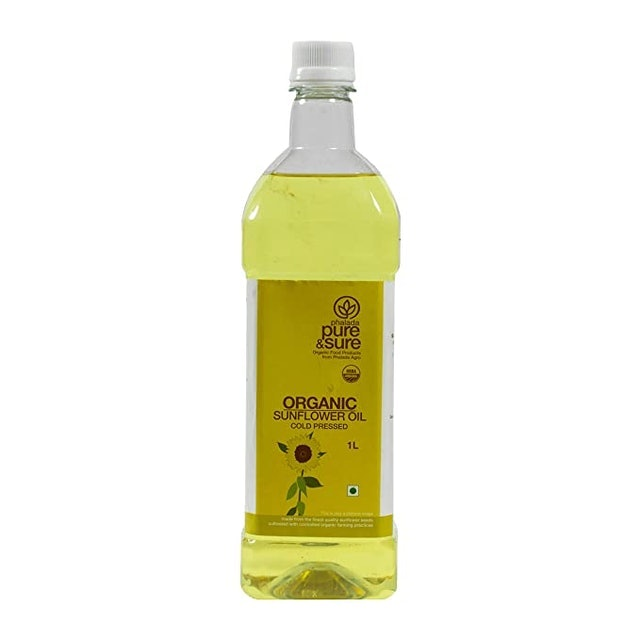 Pure & Sure Organic Sun Flower Oil 1