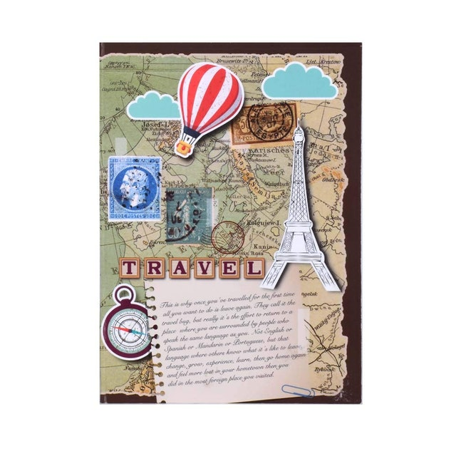 Doodle  Travelogue Paper Based Soft Bound Travel Journal Diary | 24 Monthly Planner 1