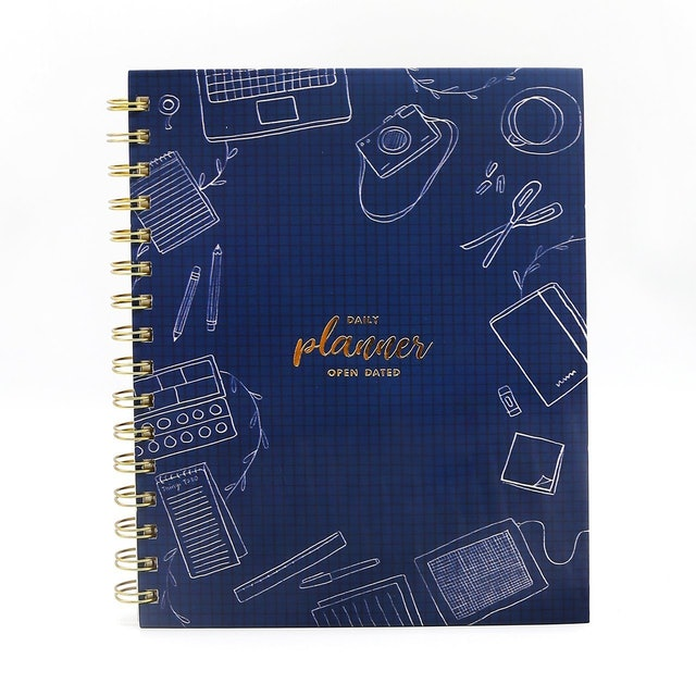 7mm  Between the Lines Daily Planner Blue 1