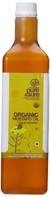 Pure and Sure  Organic Mustard Oil 1