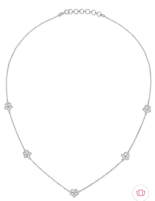 Mia by Tanishq 14KT White Gold Diamond Necklace 1