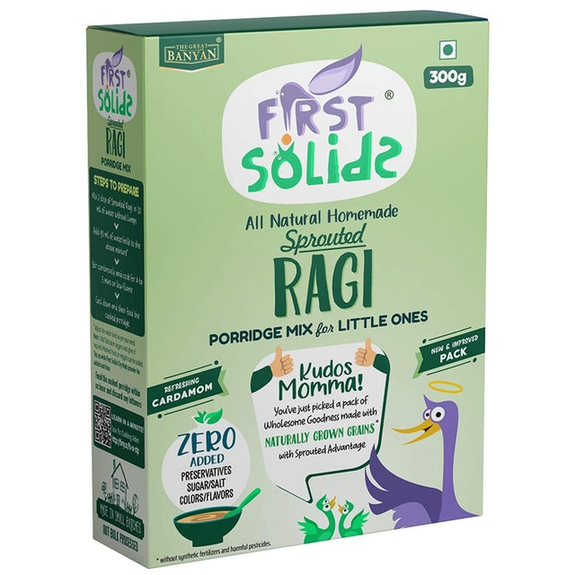 The Great Banyan  First Solids Sprouted Ragi Porridge 1