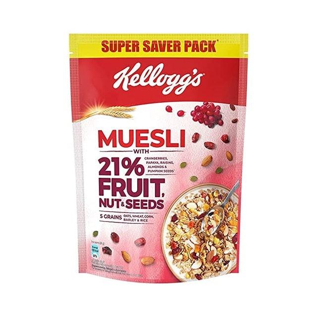 Kellogg's Muesli with 21% Fruit, Nut & Seeds, 750g  1