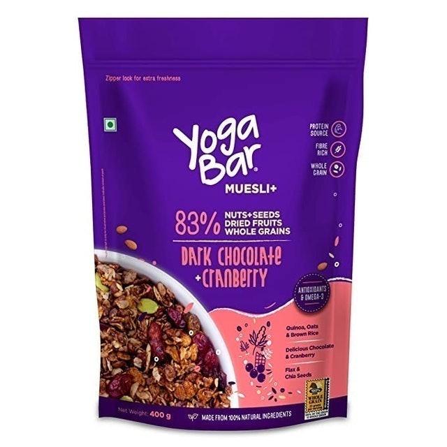 Yogabar  Wholegrain Breakfast Muesli - Dark Chocolate + Cranberry, 400g 1