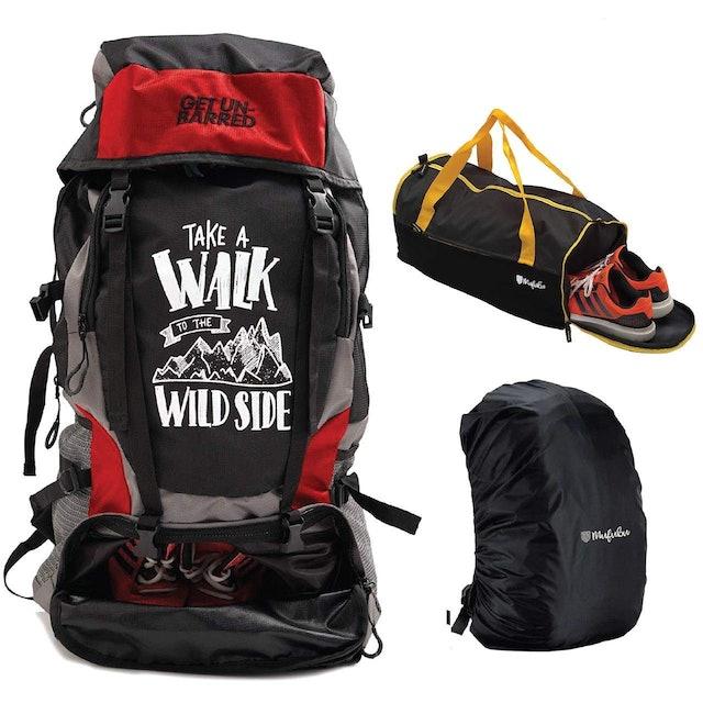 MUFUBU 55 LTR Duffel Gym Bag Combo for Trekking & Hiking  1