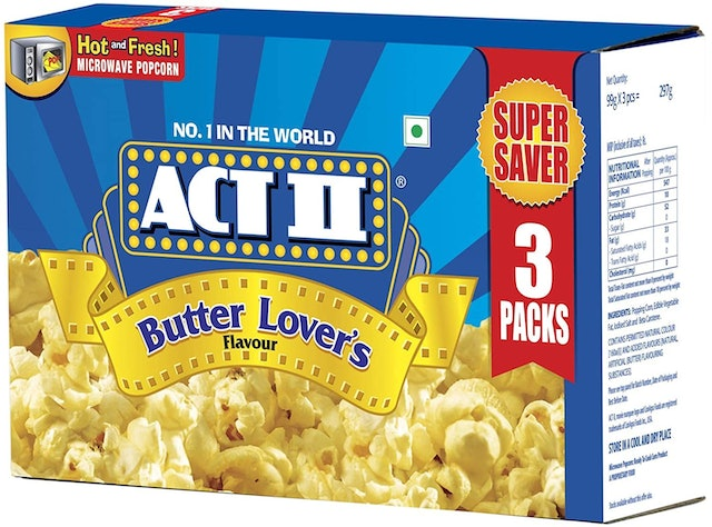 Act II  Microwave Popcorn Butter Lovers 1