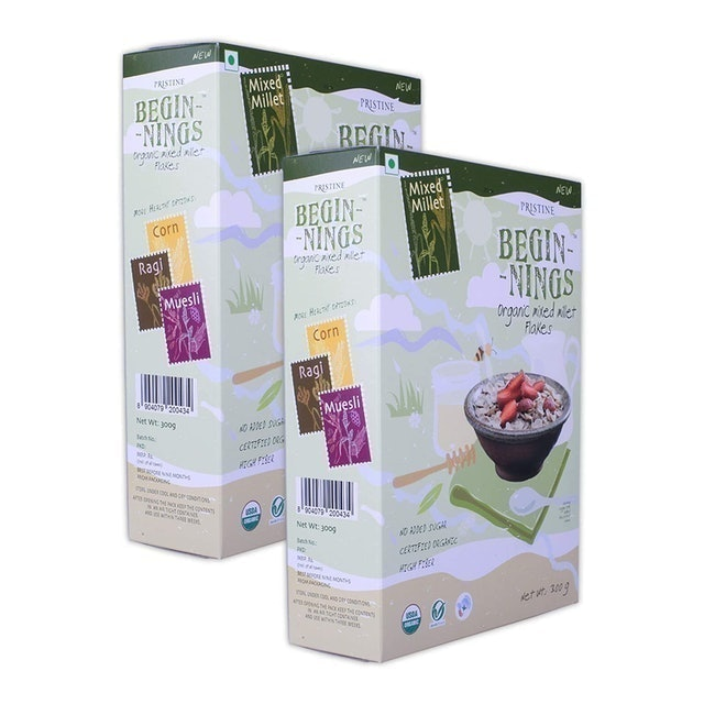 PRISTINE  Mixed Millet Flakes Cereal  1