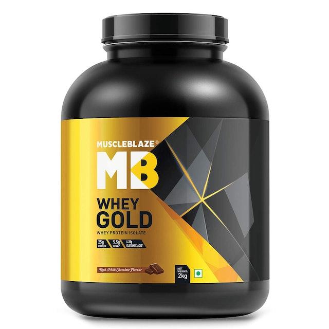 MuscleBlaze  Whey Gold 100% Whey Isolate Protein Powder 1