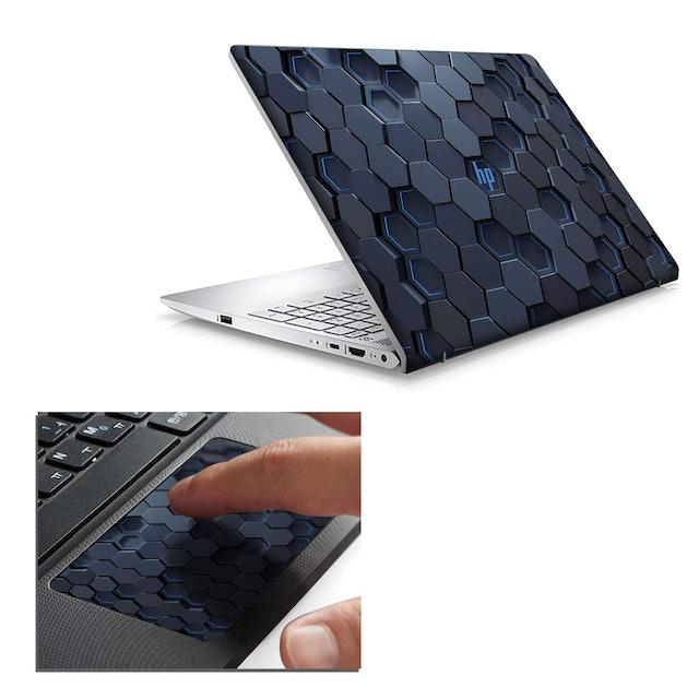 Arjun Designs Hexagonal Abstract Laptop Skin 1