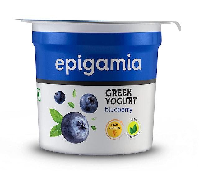 Epigamia Blueberry Greek Yogurt 1