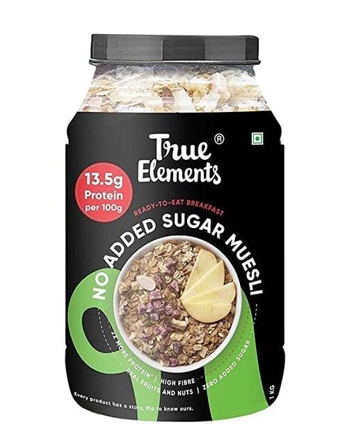 True Elements No Added Sugar Muesli, 1kg  1