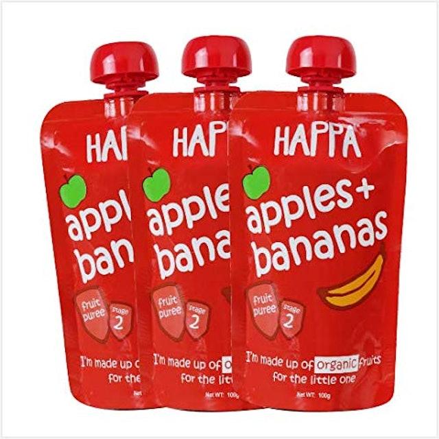 Happa  Organic Apple + Banana Puree Baby Food 1