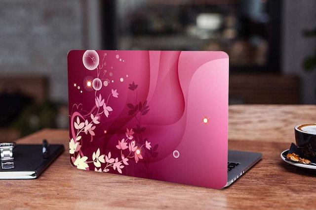 Galaxsia™ Floral D75 Vinyl Laptop Skin 1