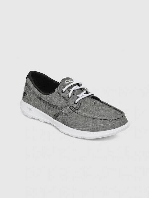 Skechers Women Charcoal Walking Shoes 1