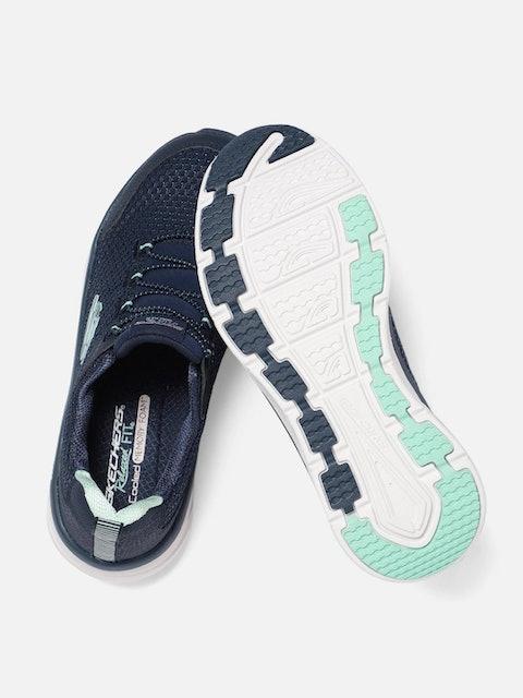 Skechers Women Navy Blue D'LUX WALKER RUNNING VISION Shoes 1