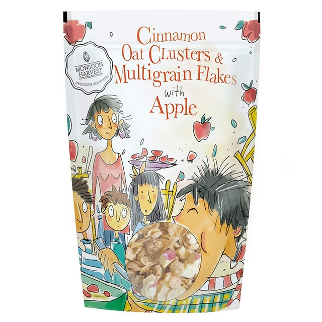 Monsoon Harvest Cinnamon Oats Clusters and Multigrain Flakes With Apple 1