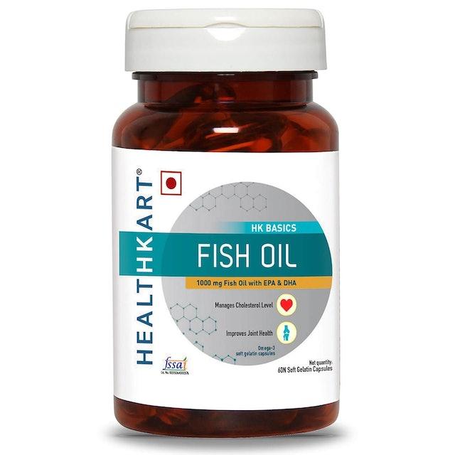 Healthkart  Fish Oil 1000 mg Omega-3 Capsules 1
