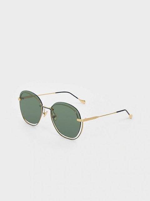Charles & Keith Women Round Sunglasses 1