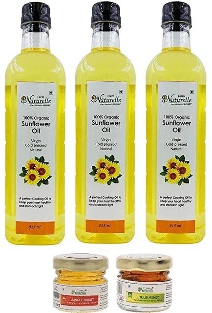 Farm Naturelle Virgin Cold Pressed Golden Sunflower Cooking Oil 1