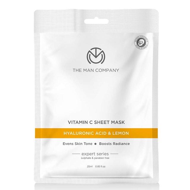The Man Company  Vitamin C Sheet Mask -Hyaluronic Acid & Lemon  1