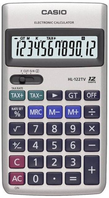 Casio  HL-122TV Silver Basic Calculator 1