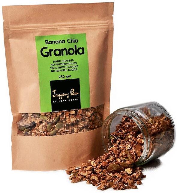 JAGGERY BOX  Banana Chia Granola 100% Natural Handmade 1