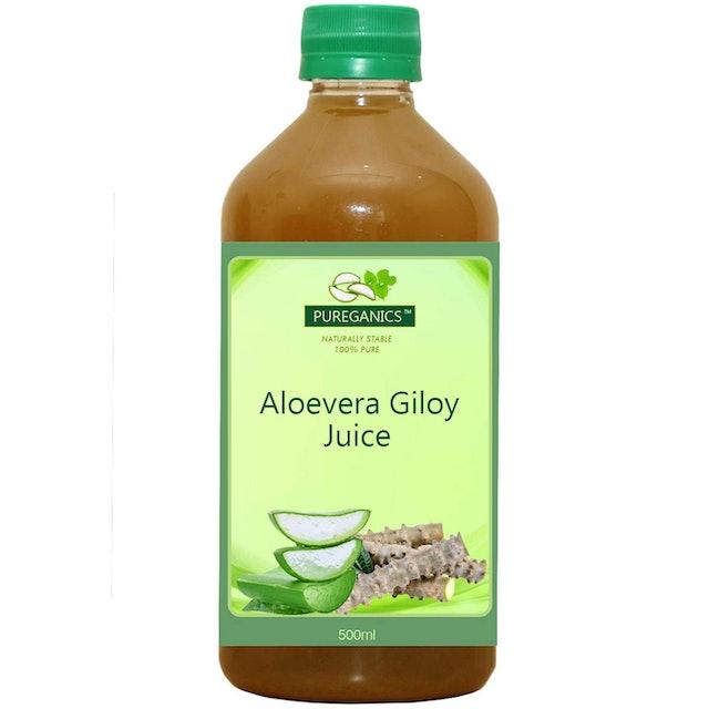 Pureganics Aloe Vera Giloy Juice 1
