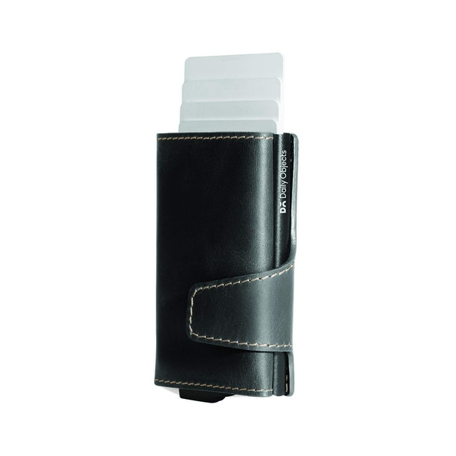 DailyObjects Charcoal Grey Keeper Tri-Fold RFID Wallet 1
