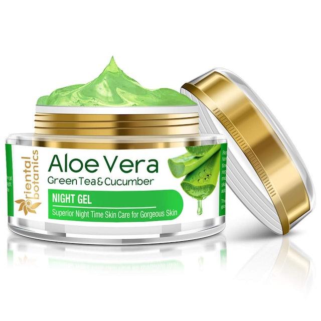 Oriental Botanics Aloe Vera, Green Tea & Cucumber Night Gel 1