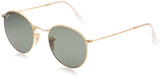 Ray-Ban Flat Lens Metal Round Sunglasses 1