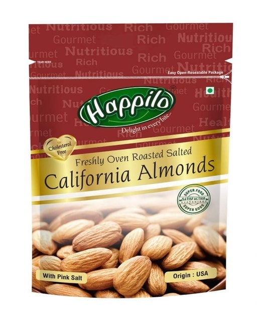 Happilo Roasted and Salted California Almonds 1