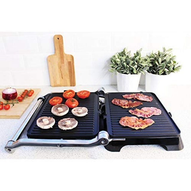 Haden 2 In 1 Stainess Steel Panini Press And Grill 1