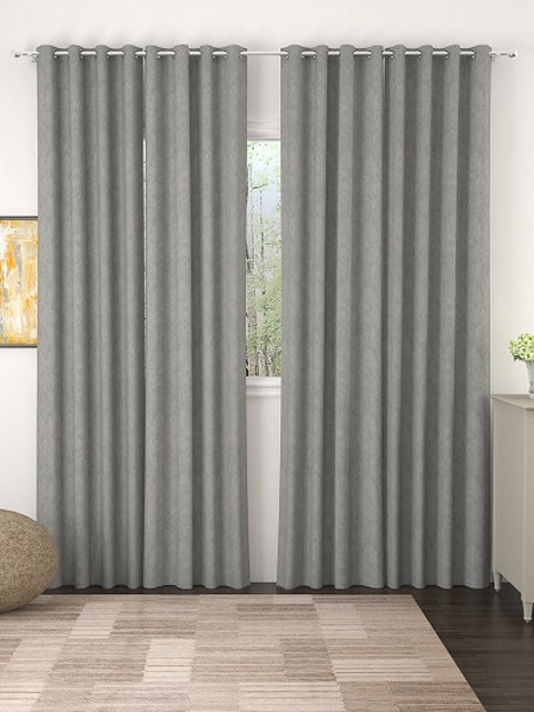 Story@home Grey Set of 4 Door Curtains 1