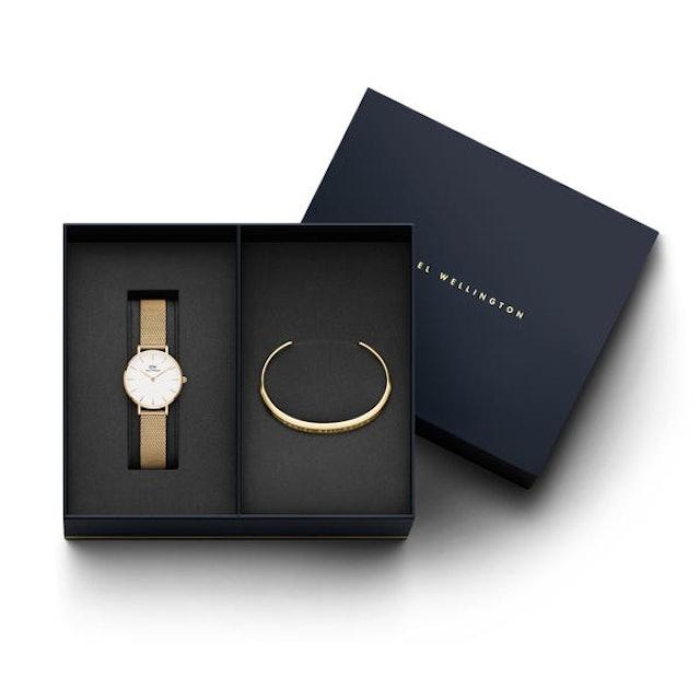 Daniel Wellington Women Petite Melrose Watch & Classic Bracelet Gift Set 1