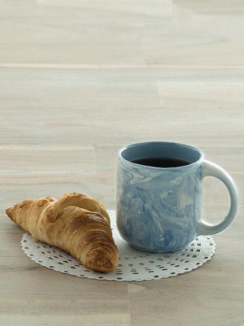 Ellementry Blue Printed Ceramic Mug 1