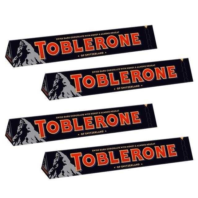Toblerone Swiss Dark Chocolate With Honey and Almond Nougat 1