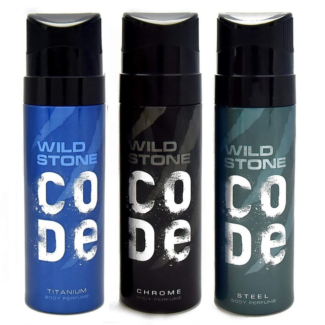 Wild Stone CODE Chrome + Steel + Titanium (Pack of 3) 1