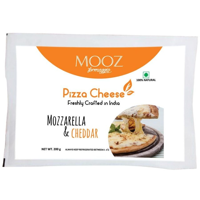 MOOZ Pizza Cheese - Mozzarella & Cheddar 1