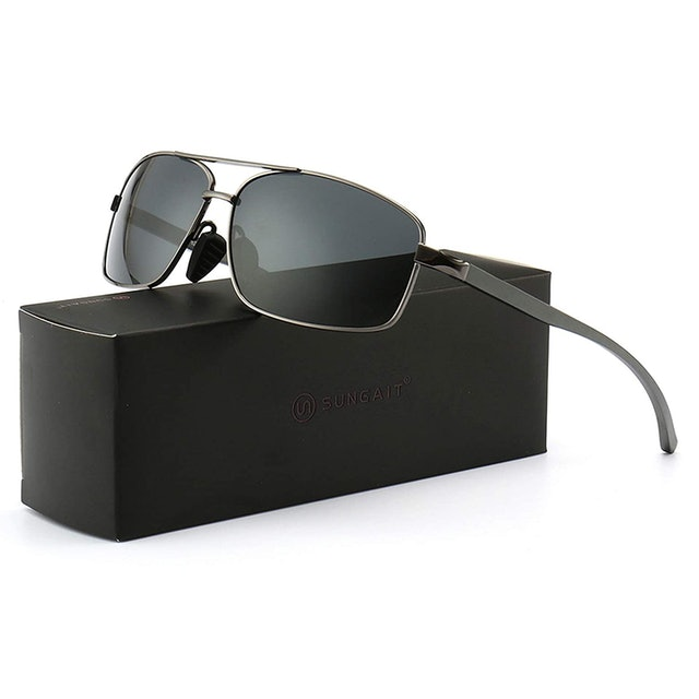 SUNGAIT Rectangular Polarized Sunglasses 1