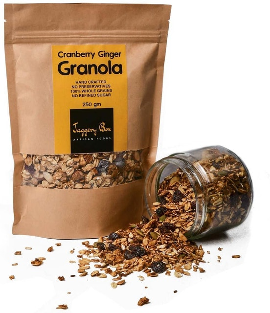 Jaggery Box  Cranberry Ginger Granola 1